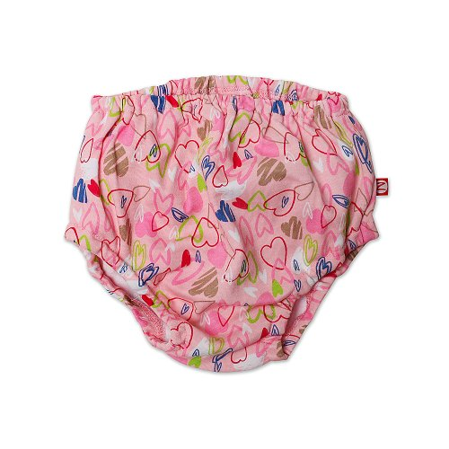 Zutano Baby-Girls Infant Love You Diaper Cover, Blush, 6 Months front-864153