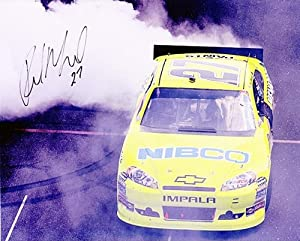Buy AUTOGRAPHED 2011 Paul Menard #27 (Brickyard Burnout) FIRST WIN 8x10 NASCAR Photo by Trackside Autographs