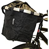 PedalPro Material Folding Quick Release Bicycle Basket - Black