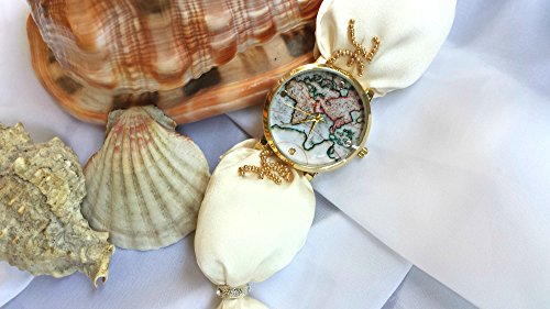 world-map-wrist-watch-women-white-adjustable-bead-embroidered-silk-bracelet-globe-dial