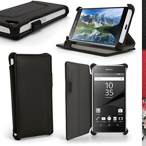 igadgitz-premium-folio-nero-eco-pelle-custodia-case-cover-per-sony-xperia-z5-compact-e5803-con-suppo