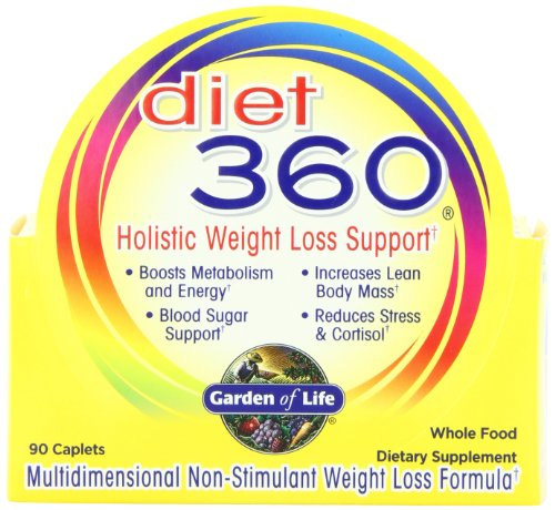 Garden Of Life Diet 360 Non-Stimulant Weight Loss & Blood Sugar Support, 90 Caplets