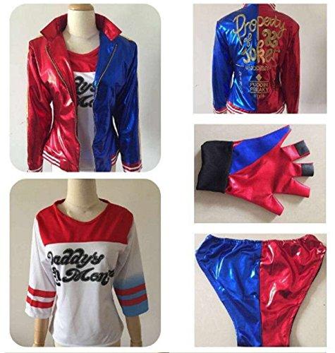 [2016 Suicide Squad Harley Quinn cosplay costume clothing set uniform(M)] (Joker 2016 Costume)
