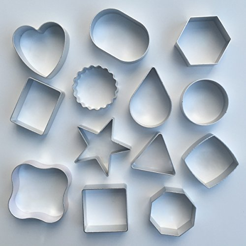 GTI Metal Cookie Cutters Set - 13 Pieces, Geometric, Star, heart and more (Ballerina Cookie Cutter Set compare prices)