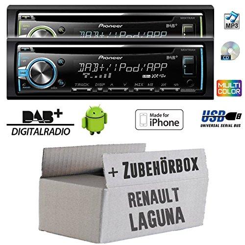 Renault Laguna 1 & 2 - Pioneer DEH-X6800DAB - DAB CD/MP3/USB Autoradio - inkl. DAB Antenne - Einbauset
