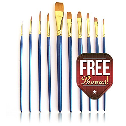 art-brushes-paint-brush-set-10pc-astarar-acrylic-watercolor-journaling-face-painting-wont-shed-hairs