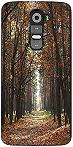 Snoogg Autumn Designer Protective Back Case Cover For LG G2