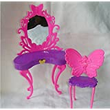 Qiyun Fashion Dressing Cottingley Fairies Table And Chair Set For Barbies Dolls Bedroom Furniture