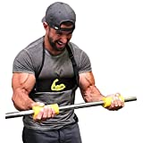 Cannon Curl + Fit Grips - Arm Blaster Support Plus Thick/Fat Bar Training