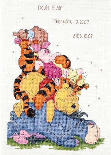 Janlynn Cross Stitch Kit, Snoozy Day Birth Announcement