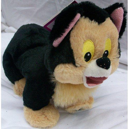 "8"" Plush Disney Figaro Doll Toy Glittery Ears - 1"