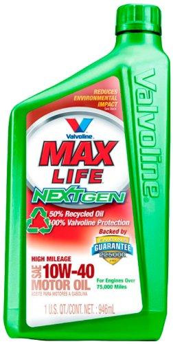 Valvoline768158 NextGen MaxLife 10W-40 High Mileage Motor Oil - 1 Quart Bottle (Case of 6)