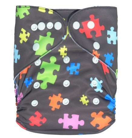 Besto Baby One Size Fit All Pocket Cloth Diaper Cover Reusable Washable Fit 6-33 Lbs 0S20 front-979202