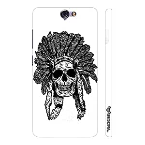 HTC One A9 Red Indian Skull designer mobile hard shell case by Enthopia