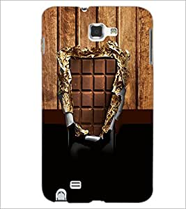 PrintDhaba Chocolate D-3576 Back Case Cover for SAMSUNG GALAXY NOTE 1 (Multi-Coloured)