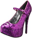 Pleaser Women's Teeze-07 Mary Jane Pump,Hot Pink,11 M US
