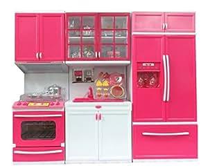 Buy zest 4 toyz modern kitchen play set with refrigerator for Kitchen set in amazon