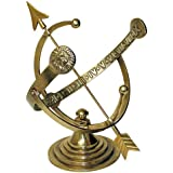 Rome RM1334 Polished Brass 12-Inch Diameter Armillary Sundial