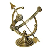 Lawn & Patio - Rome RM1334 Polished Brass 12-Inch Diameter Armillary Sundial