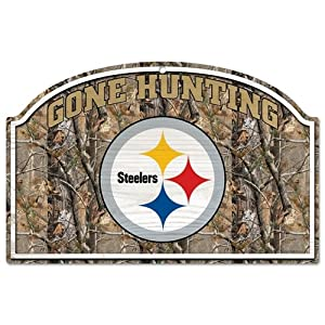 Amazon.com - NFL Camoflage Wood Sign Team: Pittsburgh Steelers