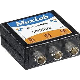 Muxlab RGB Video Balun, 3x BNC Connectors