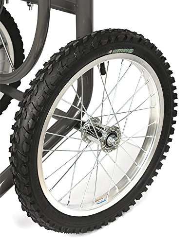 Liberty Garden Products 880-2 Industrial 2-Wheel Pneumatic Tires Garden Hose Reel Cart, Holds 300-Feet of 5/8-Inch Hose - Bronze