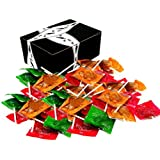 Tootsie Assorted Apple Orchard Caramel Apple Pops, 2 lb Bag in a BlackTie Box