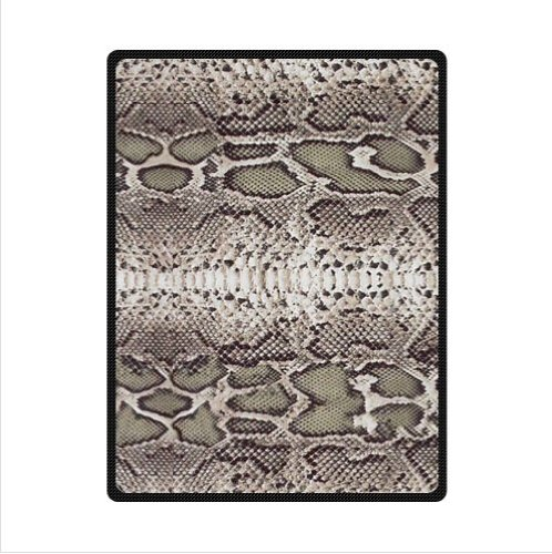 Customized Personalized Snake Skin Animal Print Fleece Blanket 58 X 80 (Large)