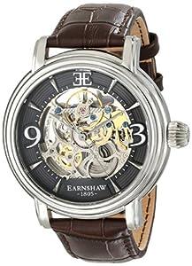 Earnshaw Men's ES-8011-02 Longcase Analog Display Automatic Self Wind Brown Watch