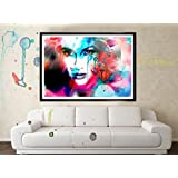 Original Jennifer Lopez Water Color Poster Art, Home Decor - Lotus Wealth Art, Improve Wealth In Your Home - No...