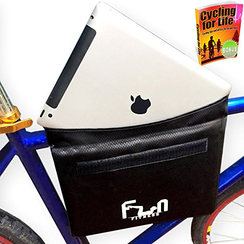 #1 Premium Waterproof Bike Bag Pannier for Top Tube Handlebar Frame Bicycle - Protect your iPad, Large Tablets and Huge Phones from Bad Weather - Also Perfect for Halloween Candy Bag Bucket & Costumes (Roof Rack Pads White compare prices)