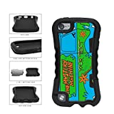 BleuReign(TM) Personalized Custom Name The Mystery Machine Van 2-Piece Dual Layer Phone Case Back Cover For Apple iPod Touch 5th Generation