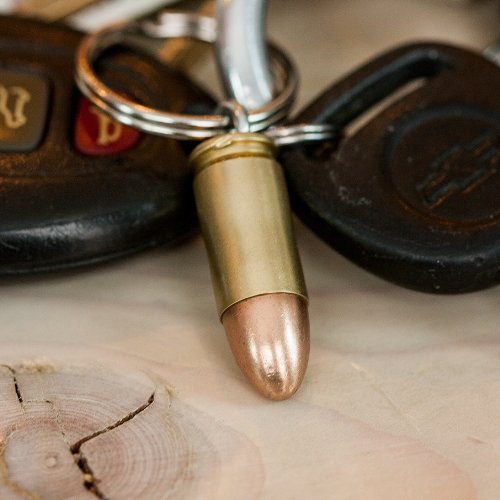 9mm Real Bullet Keychain - Handmade in USA (Chains Bullet compare prices)