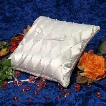 "Brenna Woven Ribbon Bridal/Wedding Ring Bearer Pillow <br><font color=""#FF0000"">*On Sale*</font><br>"