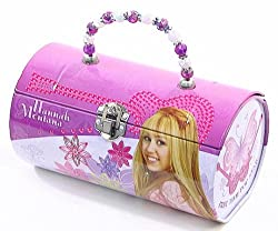 Hannah Montana Purle, Pink and White Kids Tin Lunch Box