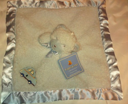 Super Soft Blue Bear Plush Security Blanket - 1