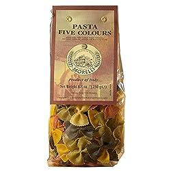 Morelli Farfalle Five Colour Pasta with Wheat Germ, 250g