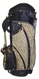 Birdie Babe Ladies Leopard Ladies Golf Bag Stand Cart by Birdie Babe