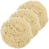 """Pack of 3-8"""" 100% Wool Hook & Loop Grip Buffing Pad for Compound Cutting & Polishing"""