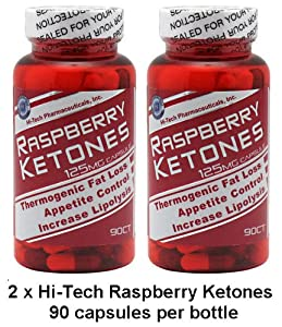 Hi-Tech Raspberry Ketones (2-Pack) // 90 capsules each