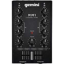 Gemini MM1 2-Channel DJ Mixer by Gemini