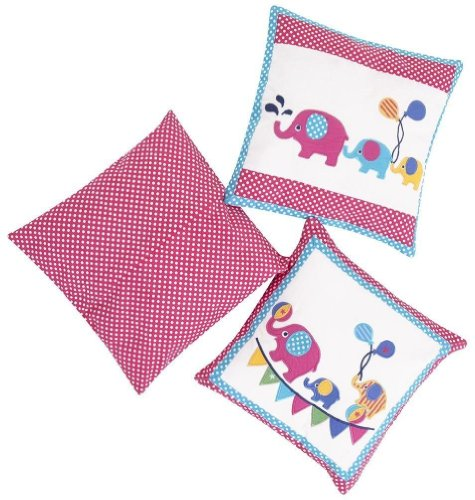 JoJo Maman Bebe 3 Elephant Decorative Pillows