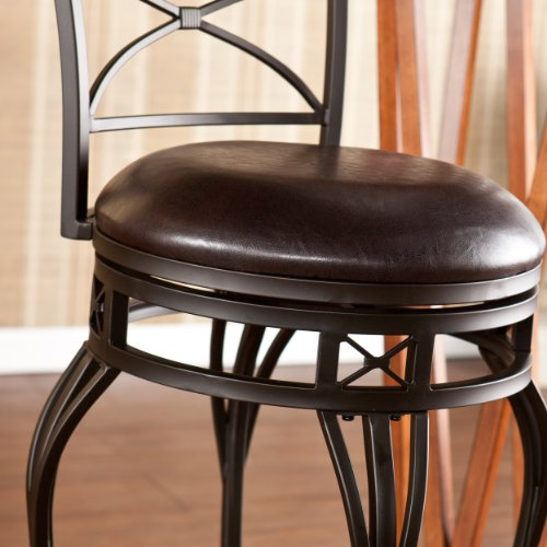 SEI Ridgeway Swivel Bar Stool, Brown