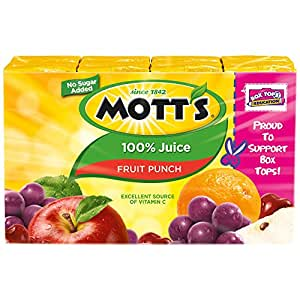 Amazon.com : Mott's 100% Juice Fruit Punch 8 pk : Grocery ...