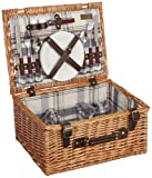Picnic Time Bristol Willow Picnic Basket with Deluxe Service for Two