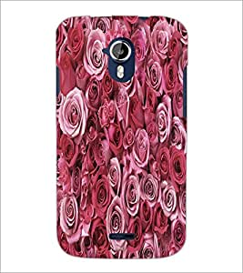 PrintDhaba Roses D-5514 Back Case Cover for MICROMAX A116 CANVAS HD (Multi-Coloured)