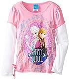 Disney Little Girls'Frozen Stay True Long-Sleeve Twofer Shirt