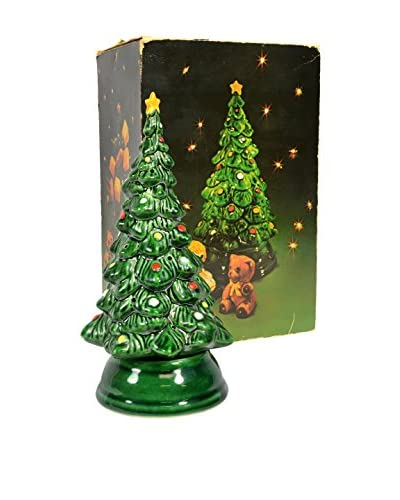 Uptown Down Vintage Hand-Painted Christmas Tree Incense Holder, Green/Multi