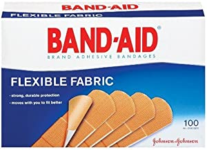 Johnson & Johnson Flexible Fabric Adhesive Bandages, 1 x 3, 100 per Box