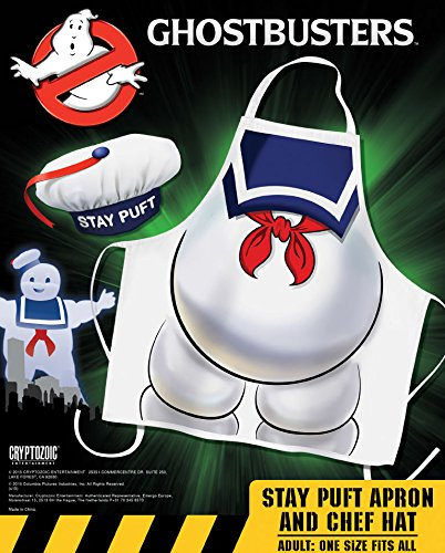 Ghostbusters Cooking Apron With Chef Hat Stay Puft Cryptozoic Entertainment